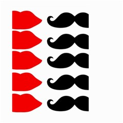 Mustache Black Red Lips Small Garden Flag (two Sides) by Alisyart
