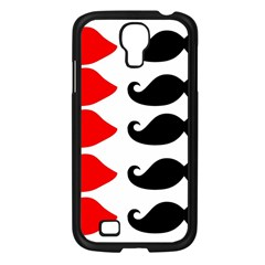 Mustache Black Red Lips Samsung Galaxy S4 I9500/ I9505 Case (black) by Alisyart