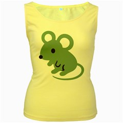 Mouse Women s Yellow Tank Top by Alisyart
