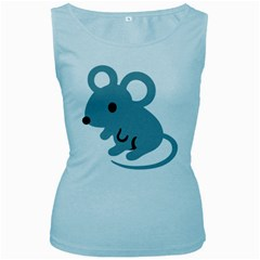 Mouse Women s Baby Blue Tank Top