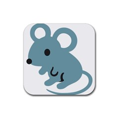 Mouse Rubber Coaster (square)