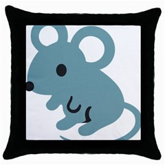 Mouse Throw Pillow Case (black) by Alisyart