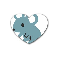 Mouse Rubber Coaster (heart)
