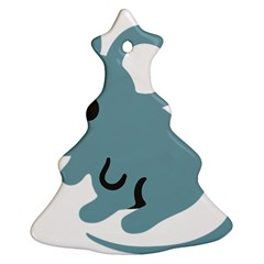 Mouse Christmas Tree Ornament (two Sides)