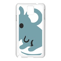 Mouse Samsung Galaxy Note 3 N9005 Case (white) by Alisyart