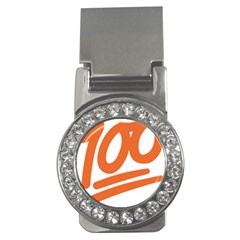 Number 100 Orange Money Clips (cz)  by Alisyart