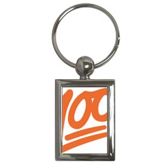 Number 100 Orange Key Chains (rectangle)  by Alisyart