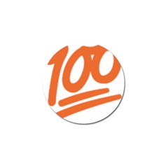 Number 100 Orange Golf Ball Marker