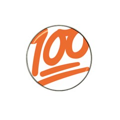 Number 100 Orange Hat Clip Ball Marker