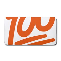 Number 100 Orange Medium Bar Mats by Alisyart