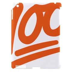Number 100 Orange Apple Ipad 3/4 Hardshell Case (compatible With Smart Cover) by Alisyart