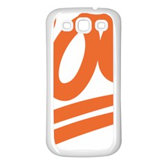 Number 100 Orange Samsung Galaxy S3 Back Case (white) by Alisyart