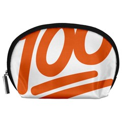 Number 100 Orange Accessory Pouches (large)