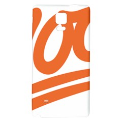 Number 100 Orange Galaxy Note 4 Back Case