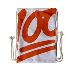 Number 100 Orange Drawstring Bag (small)