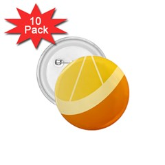 Orange Lime Yellow Fruit Fress 1 75  Buttons (10 Pack)