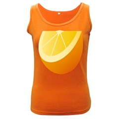 Orange Lime Yellow Fruit Fress Women s Dark Tank Top