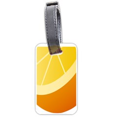 Orange Lime Yellow Fruit Fress Luggage Tags (two Sides) by Alisyart