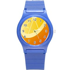 Orange Lime Yellow Fruit Fress Round Plastic Sport Watch (s) by Alisyart