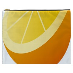 Orange Lime Yellow Fruit Fress Cosmetic Bag (xxxl)
