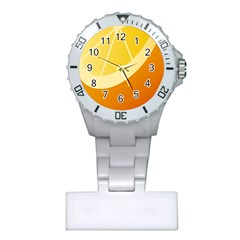 Orange Lime Yellow Fruit Fress Plastic Nurses Watch