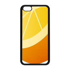 Orange Lime Yellow Fruit Fress Apple Iphone 5c Seamless Case (black) by Alisyart