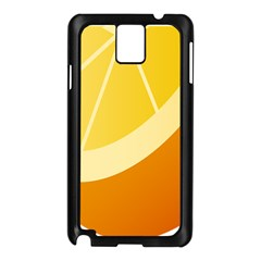 Orange Lime Yellow Fruit Fress Samsung Galaxy Note 3 N9005 Case (black)