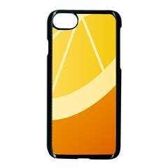 Orange Lime Yellow Fruit Fress Apple Iphone 7 Seamless Case (black) by Alisyart