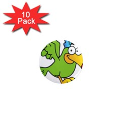 Parrot Cartoon Character Flying 1  Mini Magnet (10 Pack)  by Alisyart