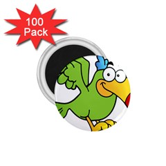 Parrot Cartoon Character Flying 1 75  Magnets (100 Pack)