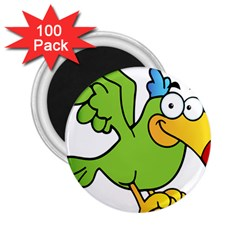 Parrot Cartoon Character Flying 2 25  Magnets (100 Pack)