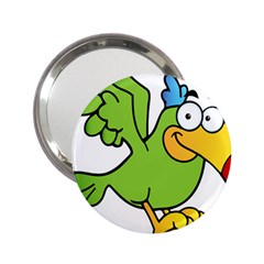 Parrot Cartoon Character Flying 2 25  Handbag Mirrors by Alisyart