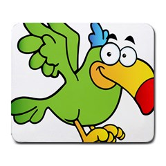 Parrot Cartoon Character Flying Large Mousepads by Alisyart
