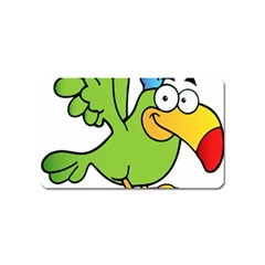 Parrot Cartoon Character Flying Magnet (name Card) by Alisyart