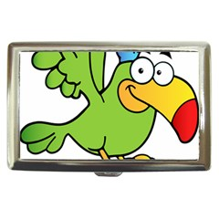 Parrot Cartoon Character Flying Cigarette Money Cases by Alisyart