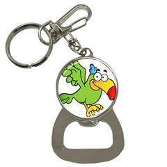 Parrot Cartoon Character Flying Button Necklaces