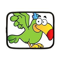Parrot Cartoon Character Flying Netbook Case (small)  by Alisyart