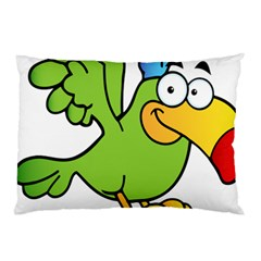 Parrot Cartoon Character Flying Pillow Case
