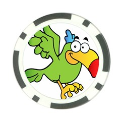 Parrot Cartoon Character Flying Poker Chip Card Guard (10 Pack) by Alisyart
