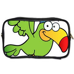 Parrot Cartoon Character Flying Toiletries Bags by Alisyart