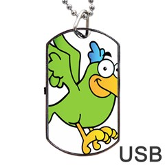 Parrot Cartoon Character Flying Dog Tag Usb Flash (two Sides)