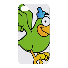 Parrot Cartoon Character Flying Apple Iphone 4/4s Hardshell Case by Alisyart