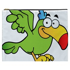 Parrot Cartoon Character Flying Cosmetic Bag (xxxl)