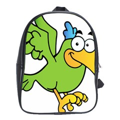 Parrot Cartoon Character Flying School Bags (xl)  by Alisyart