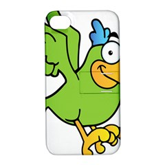 Parrot Cartoon Character Flying Apple Iphone 4/4s Hardshell Case With Stand by Alisyart