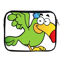 Parrot Cartoon Character Flying Apple Ipad 2/3/4 Zipper Cases by Alisyart