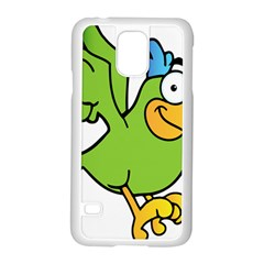 Parrot Cartoon Character Flying Samsung Galaxy S5 Case (white)