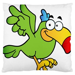 Parrot Cartoon Character Flying Standard Flano Cushion Case (one Side) by Alisyart