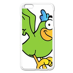 Parrot Cartoon Character Flying Apple Iphone 6 Plus/6s Plus Enamel White Case