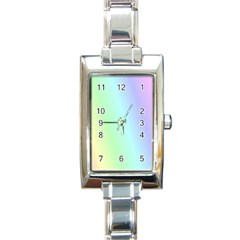 Multi Color Pastel Background Rectangle Italian Charm Watch by Simbadda